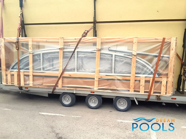 polyester zwembad levering 100